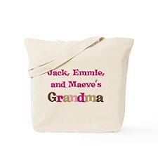 Jack Emmie Maeve Grandma Tote Bag