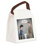 Polar Bears and Reindeer Canvas Lunch Bag