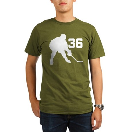 Hockey Player Number 36 Organic Men's T-Shirt (dar