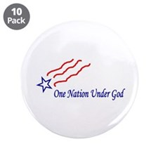 """One Nation Star 3.5"""" Button (10 pack)"""
