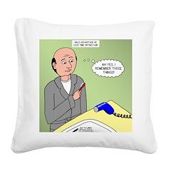 Bald Advantage No. 2 Square Canvas Pillow