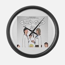 Pediatrician Quandry Large Wall Clock