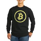 Bitcoin Long Sleeve T-shirts (Dark)