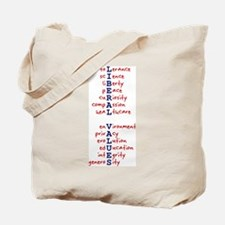 Liberal Values WordPlay Tote Bag