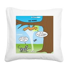 Fraidy Cat Square Canvas Pillow