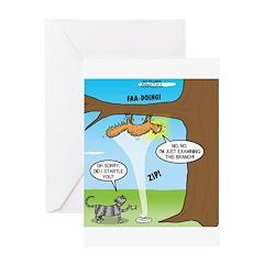 Fraidy Cat Greeting Card