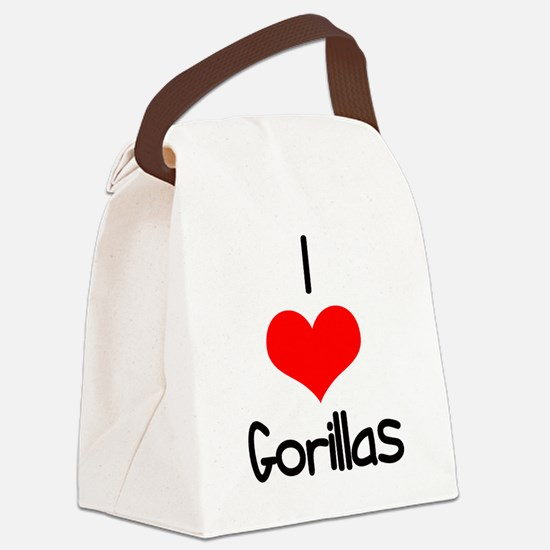 i-heart-gorillas.png Canvas Lunch Bag