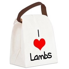 i-heart-lambs.png Canvas Lunch Bag