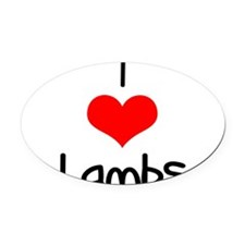 i-heart-lambs.png Oval Car Magnet