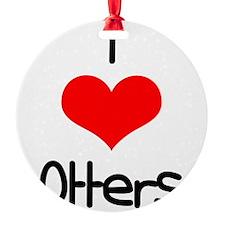 i-heart-otters.png Ornament