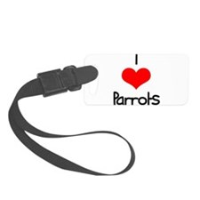 i-heart-parrots.png Luggage Tag