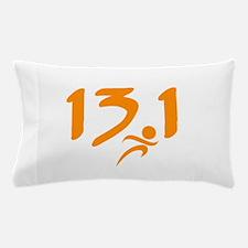 Orange 13.1 half-marathon Pillow Case