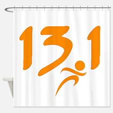 Orange 13.1 half-marathon Shower Curtain