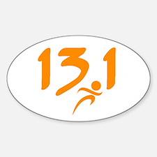 Orange 13.1 half-marathon Decal