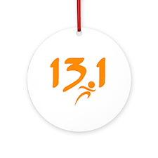 Orange 13.1 half-marathon Ornament (Round)