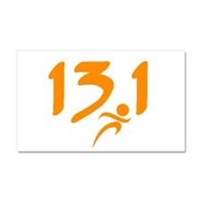 Orange 13.1 half-marathon Car Magnet 20 x 12