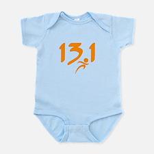 Orange 13.1 half-marathon Infant Bodysuit