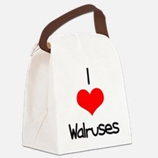 i-heart-walruses.png Canvas Lunch Bag