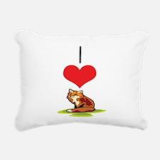 heart-fox.png Rectangular Canvas Pillow