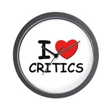 I love critics Wall Clock