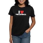I Love Volleyball Women's Dark T-Shirt
