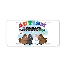 Autism Embrace Differences Aluminum License Plate