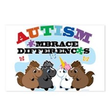Autism Embrace Differences Postcards (Package of 8