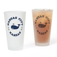 KC Whaling Excursions Drinking Glass