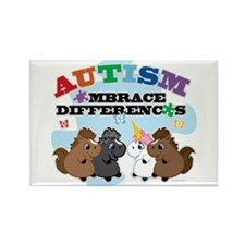 Autism Embrace Differences Rectangle Magnet
