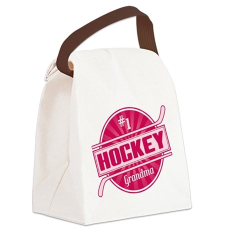 #1 Hockey Grandma Canvas Lunch Bag