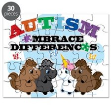 Autism Embrace Differences Puzzle