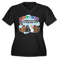 Autism Embrace Differences Plus Size T-Shirt
