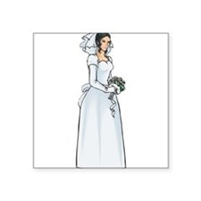 "victorian-bride1.png Square Sticker 3"" x 3"""