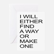 Find A Way Motivation Greeting Card