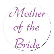 mother-of-the-bride-purple.png Round Car Magnet
