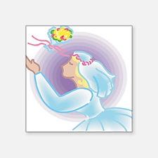 "pastel-bride.png Square Sticker 3"" x 3"""