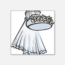 """hat-and-veil.png Square Sticker 3"""" x 3"""""""