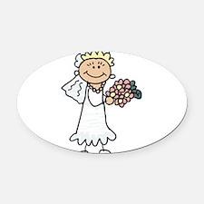 cartoon-bride.png Oval Car Magnet