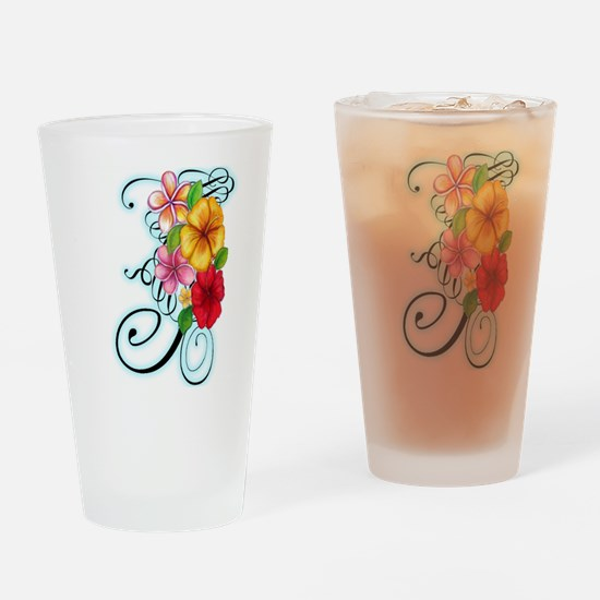 Flower Fusion Drinking Glass