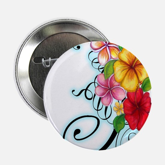 "Flower Fusion 2.25"" Button"