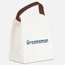 grooms-man,blue.png Canvas Lunch Bag