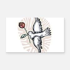 dove-n-rose.png Rectangle Car Magnet