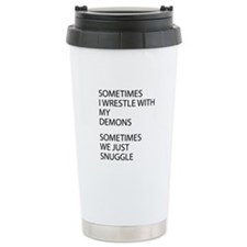 Wrestle With My Demons Travel Mug