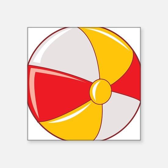 "beachball.png Square Sticker 3"" x 3"""