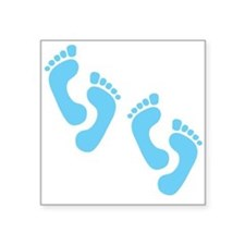 "blue-feet,twins.png Square Sticker 3"" x 3"""