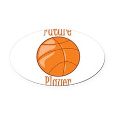 future-basketball-player.png Oval Car Magnet