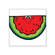 "happy-watermelon.png Square Sticker 3"" x 3"""