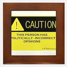 Caution Framed Tile