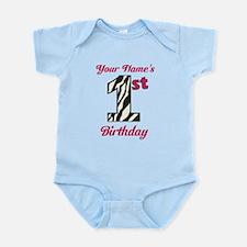1st Birthday Zebra - Personalized! Body Suit