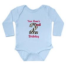 2nd Birthday Zebra - Personalized! Body Suit